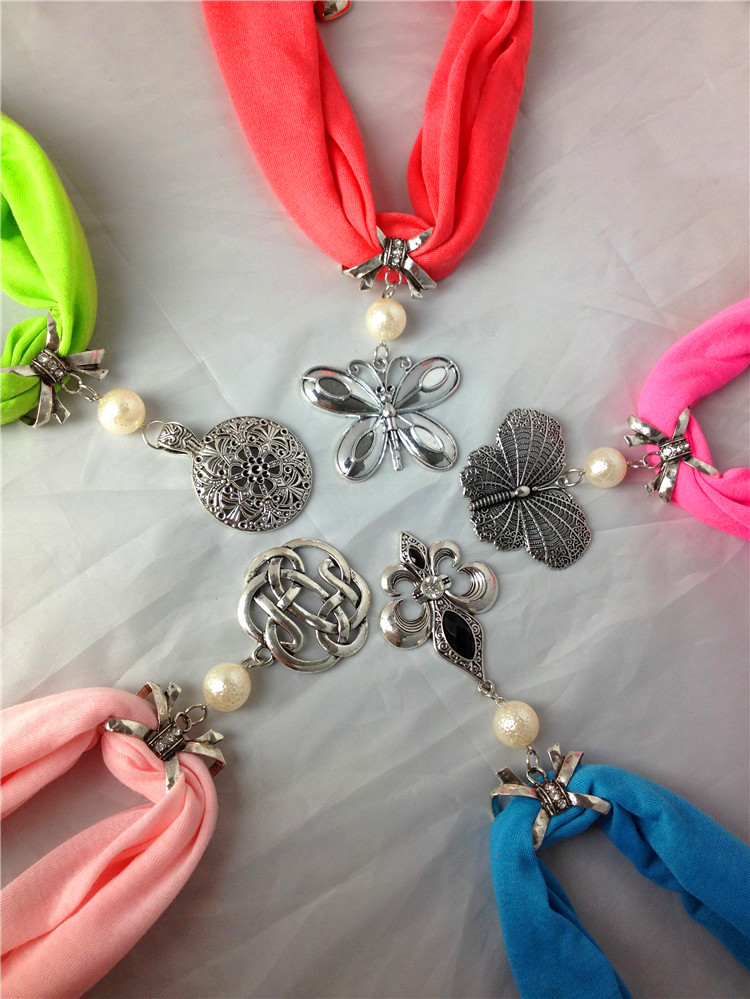 Germany buy cheap jewelry scarf with alloy pendant