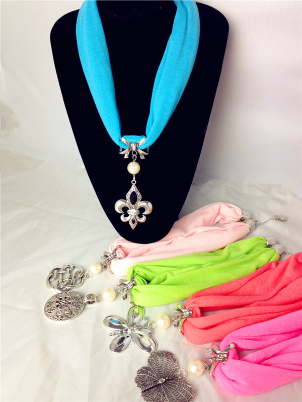 Nice short jewelry scarves pendants on sale [Free1018]
