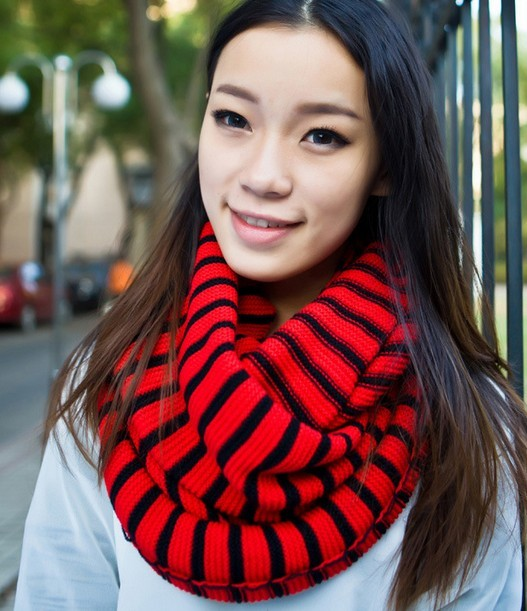 USA stripes pattern infinity scarf on sale