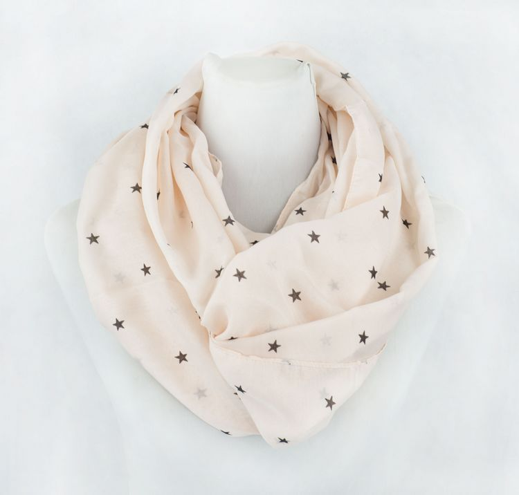 Star Design Viscose Infinity Scarf