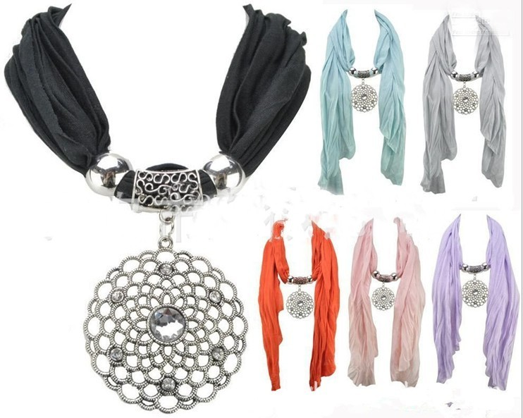 2013 Wholesale jewelry scarf with pendant USA