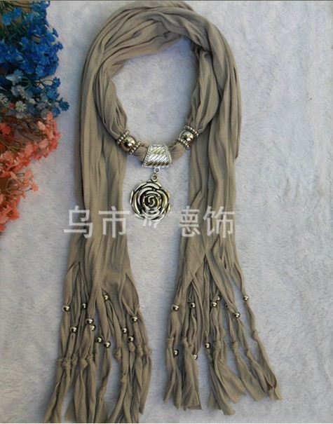 Cheap scarves with jewelry attached UK