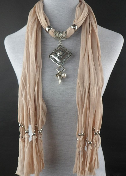 beaded scarf necklace beads
