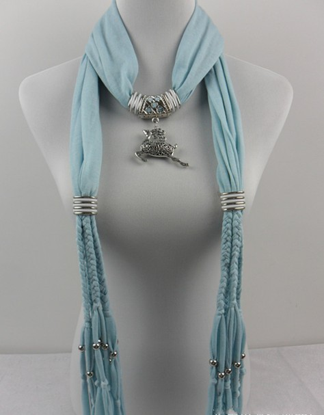 scarves with jewellery attached