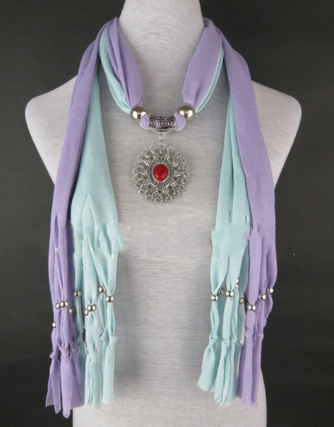 Wholesale jewelry scarves with pendant 2013 New Design