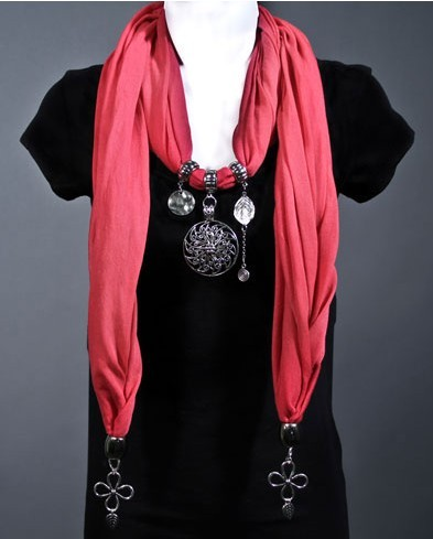 Cranberry Scarf Necklace Sale pendant scarves