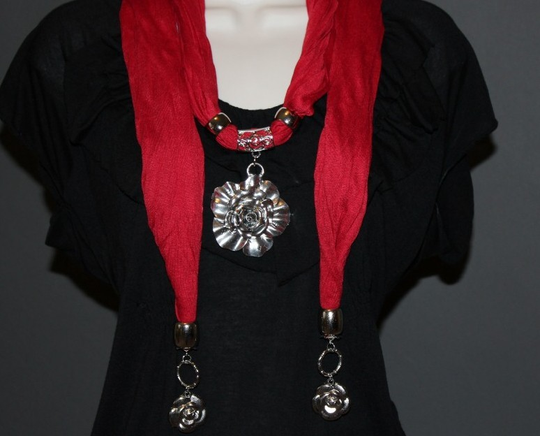 FLOWER Scarf pendant scarves for women