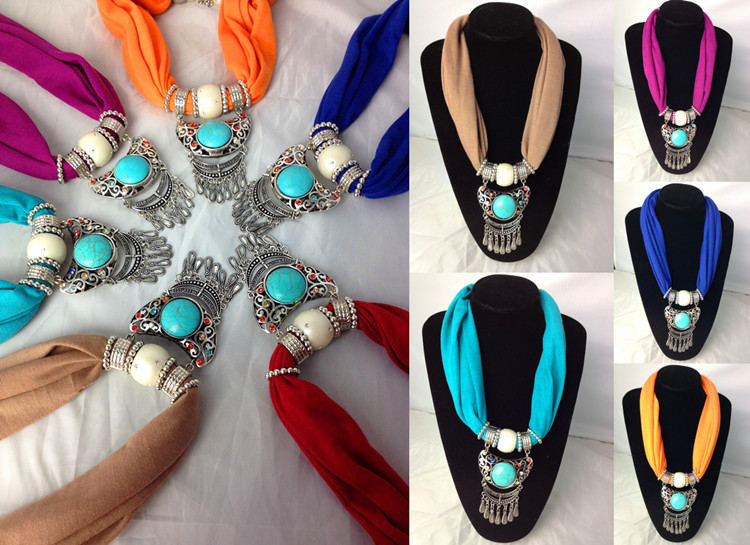 SEO_COMMON_KEYWORDS USA Wholesale jewelry scarves with pendant 2013