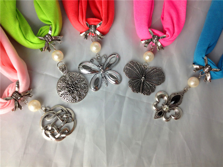USA wholesale Scarf Necklace Jewelry Pendants
