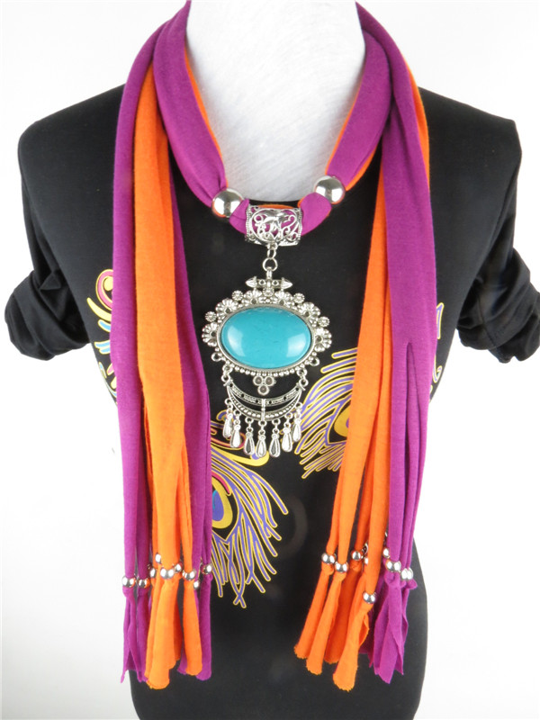 Wholesale pendant necklace scarf