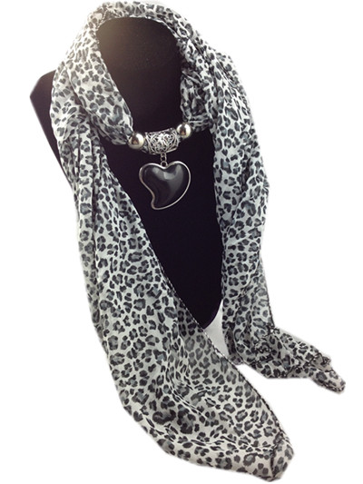 New style leopard jewelry scarf with beads