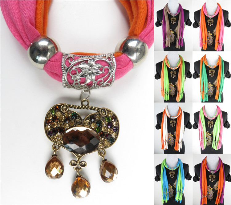 Beauty charm jewelry scarves
