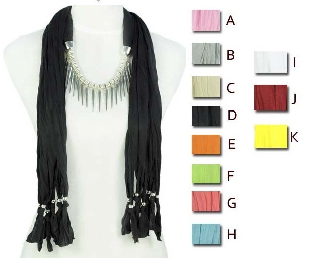 Fashion Necklace Jewelry Tassel Pendant Scarves