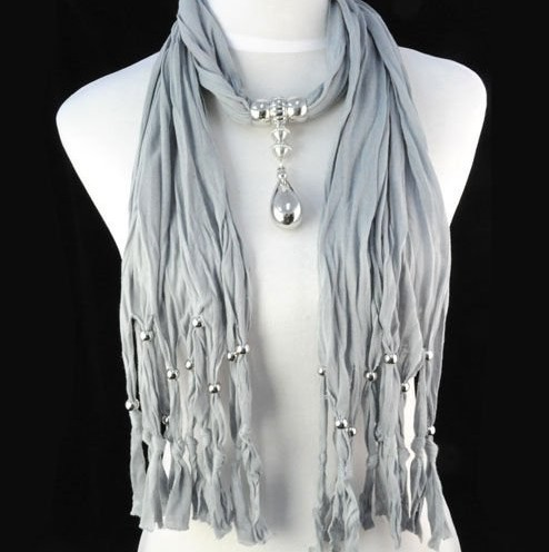 USA Scarf Wholesale Charm Pendant Necklace Scarf