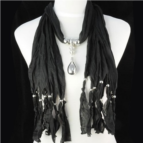 Wholesale tassel Beads Jewelry Drop Pendant Necklace Scarf