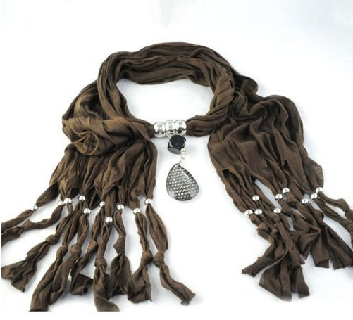 Eorope Design Fashion Brown Cheap Jewelry Scarf