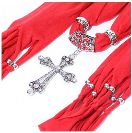 New style cross jewelry scarf with beads wholesale in USA