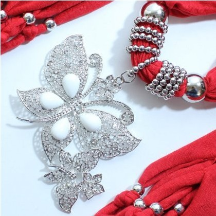 New Fashion Butterfly Shaped jewelry scarf with tassel for women