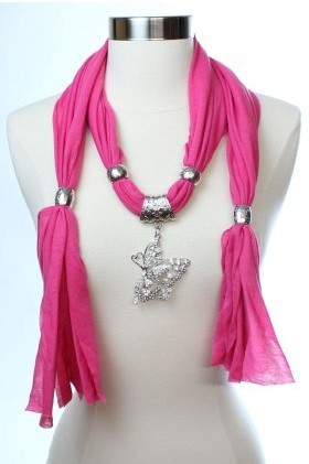 USA christmas gift women scarves with new butterfly beads