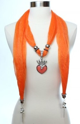 USA Crown style with best resin charms pendant scarf