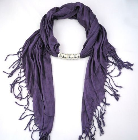 Purple Fashion pendant necklace scarf wholesale in UK