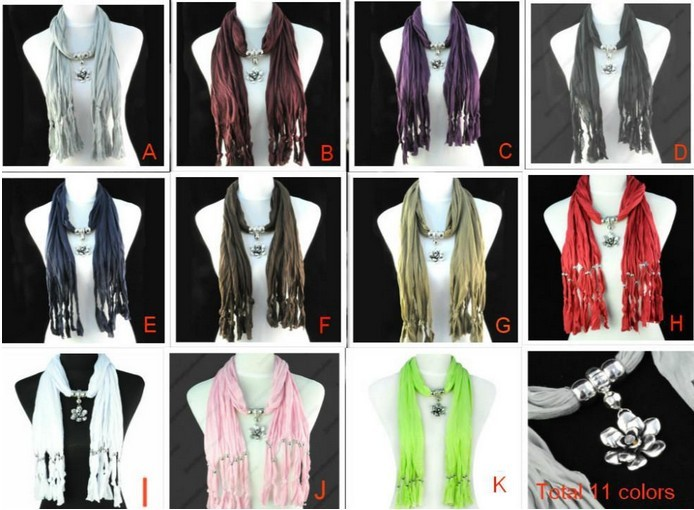 Wholesale Alloy flower pendant jewelry scarfs in USA