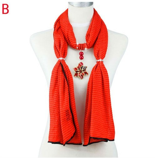 Flower designs Pendant scarves wholesale in USA