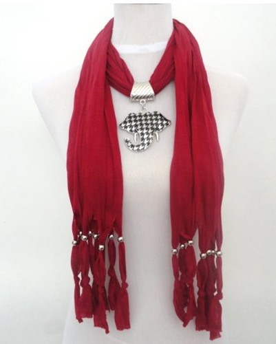 2013 USA New fashionable jewelry scarf with elephant pendant cha