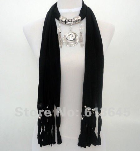 SEO_COMMON_KEYWORDS UK Jewelry scarf with fashionable sunflower designs pendant