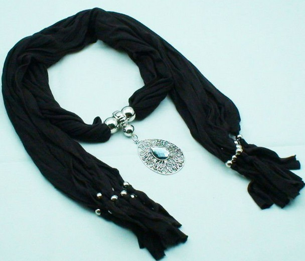 Women scarf with fashionable design pendant FOR SALE