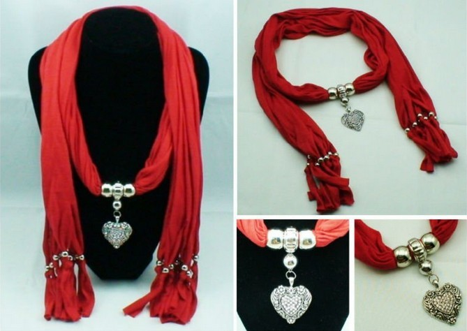 2013 RED Jewelry Pendant Scarf WRAP Wholesale USA