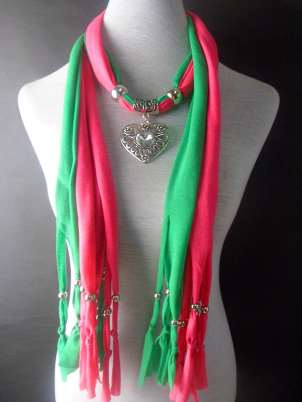 2013 2 colors mixed pendant charm jewelry scarves Wholesale - Click Image to Close