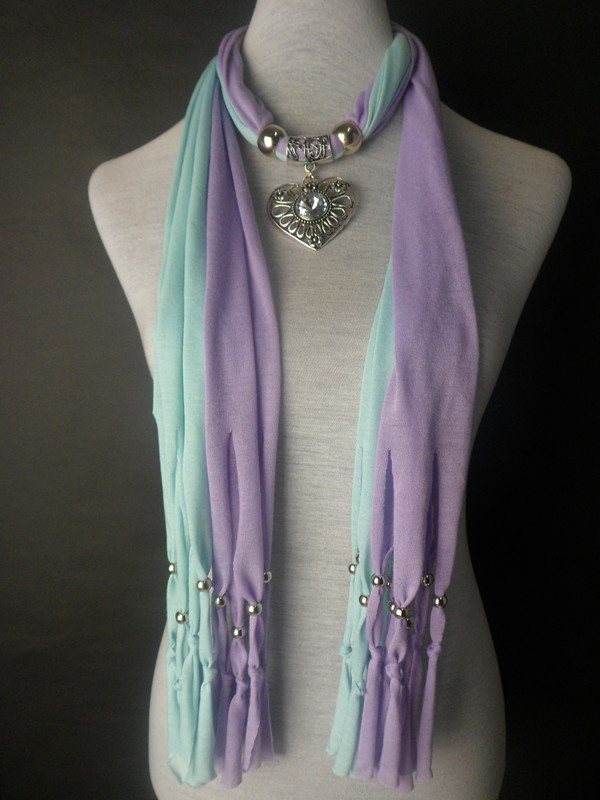 2013 2 colors mixed pendant charm jewelry scarves Wholesale