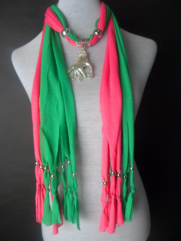 2013 USA Jewelry scarf with pendant wholesale Colors Mixed - Click Image to Close