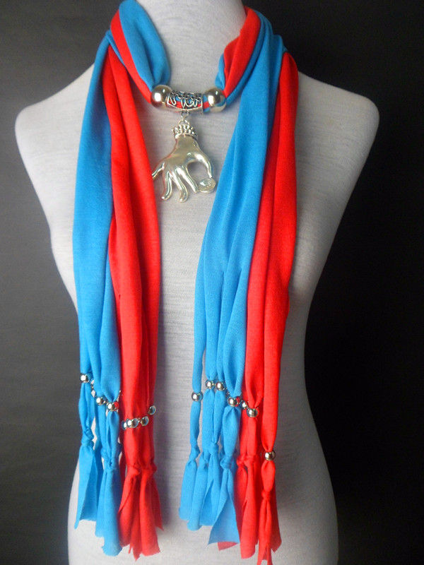 2013 USA Jewelry scarf with pendant wholesale Colors Mixed