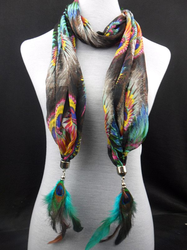2013 Peacock Feather jewelry scarves wholesale