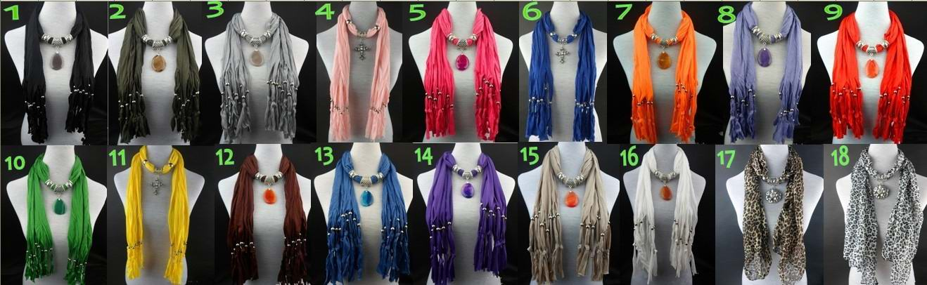 2013 Charm Flower style jewelry scarf Wholesale