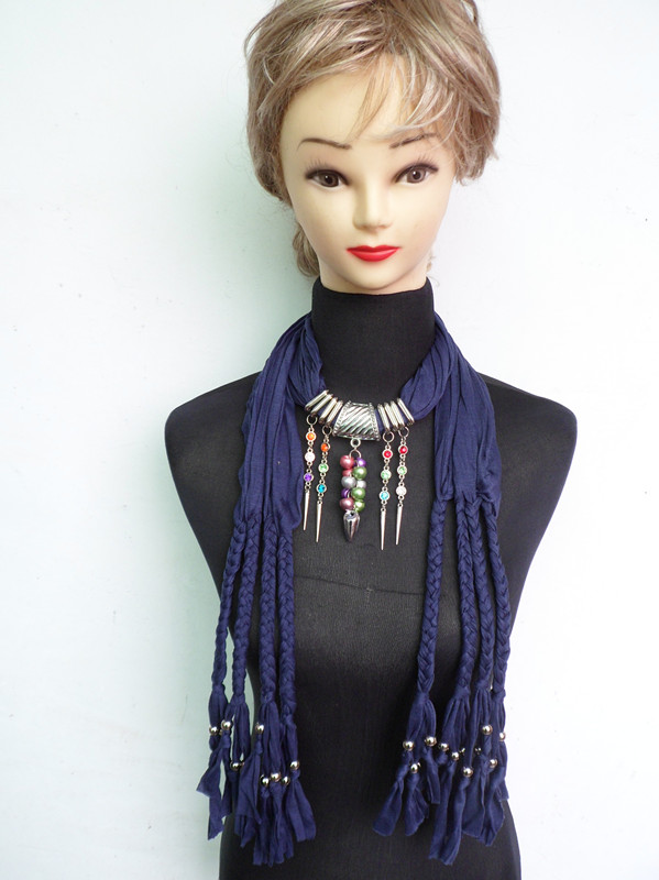 2013 Fashion Jewelry scarf with pendant wholesales
