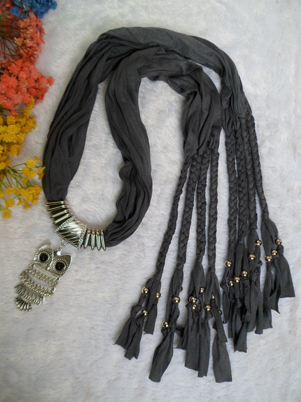 SEO_COMMON_KEYWORDS Jewelry Scarves with attached pendant for women