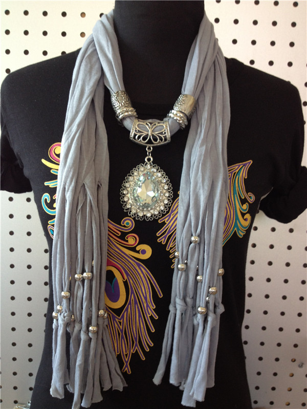 Super big charm pendant scarf for lady