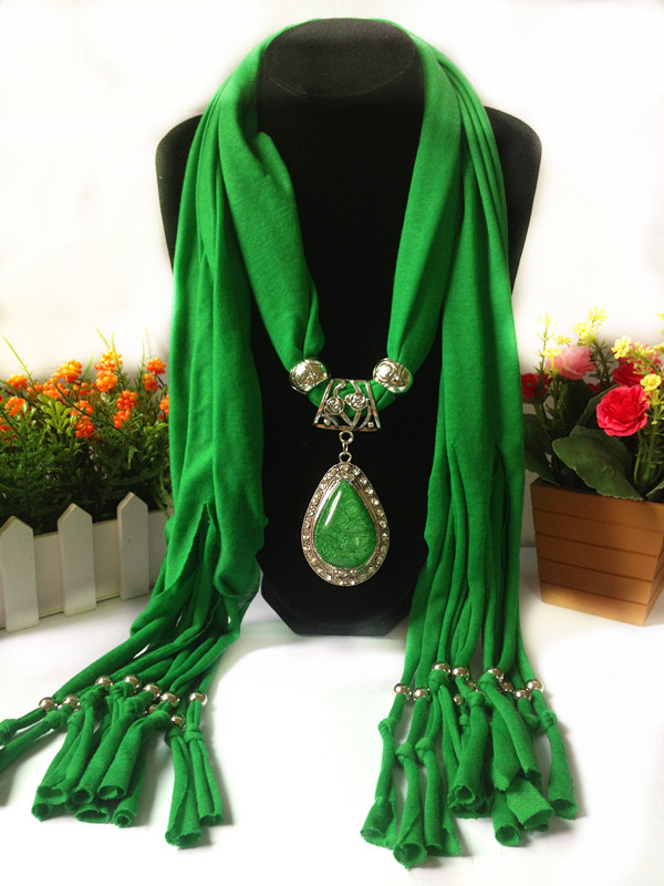 SEO_COMMON_KEYWORDS 1 Beautiful Jewelry Scarf with Oversize RHINESTONE attached
