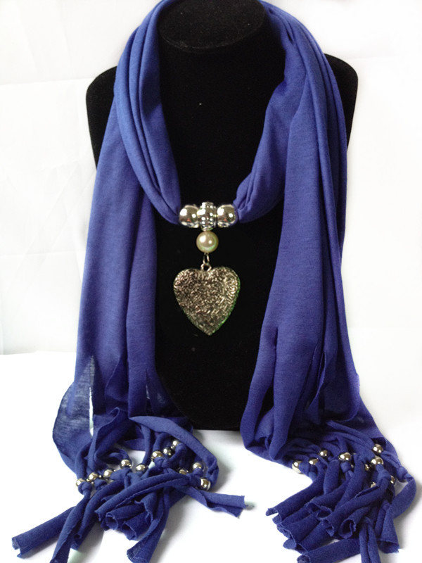 SEO_COMMON_KEYWORDS 1 Wholesale Jewelry Scarves with new heart design pendants attac