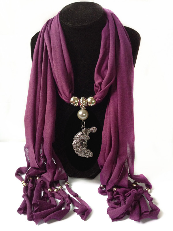 1 USA Jewelry Scarves with FISH pendants attached