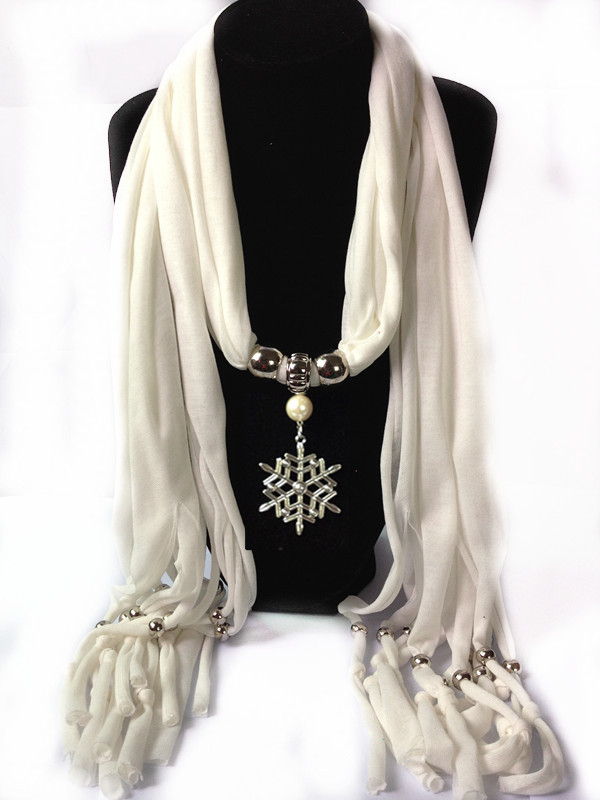 SEO_COMMON_KEYWORDS 1 Christmas Jewelry Scarf With Snowflake Design pendant