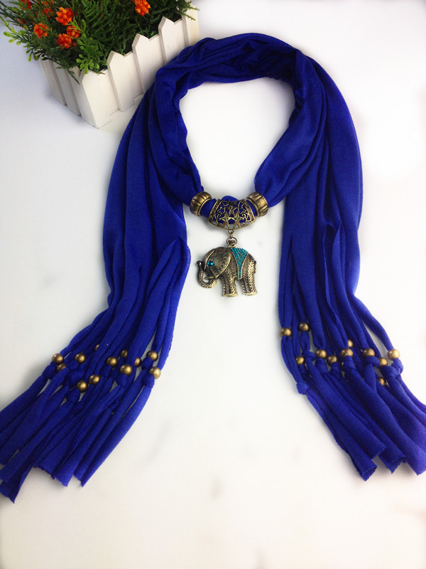 1 2014 New Jewelry Scarf With Elephant Design pendant
