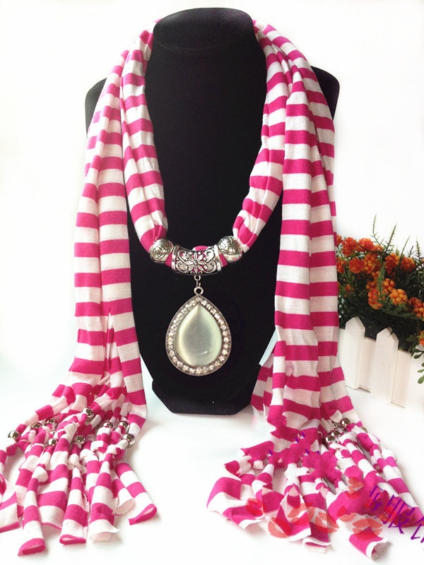 1 Gemstones Pendant Scarves USA