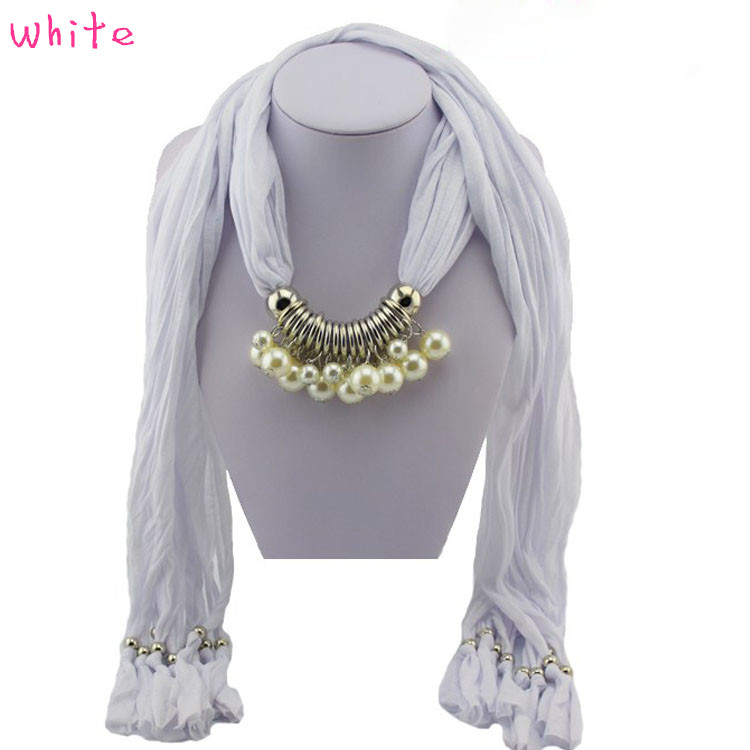1 Pearl Necklace Scarf for women