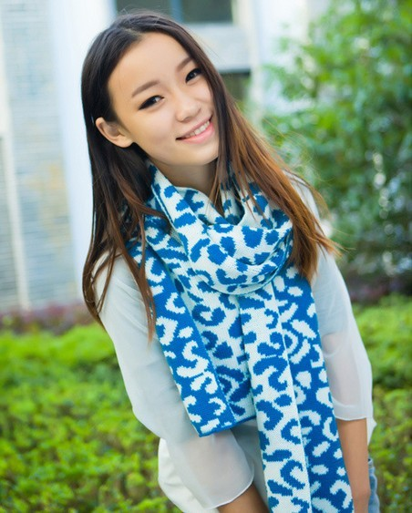 Long knit scarves cheap
