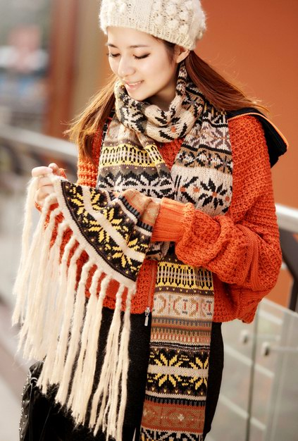 Christmas Style Knit Scarf For Women