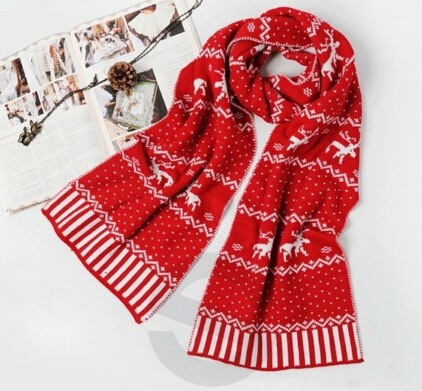 Christmas Knit Scarf For Winter
